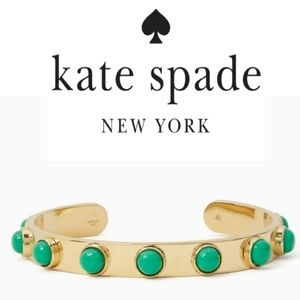♠️Kate Spade♠️ Green Tag Along Cuff Bracelet